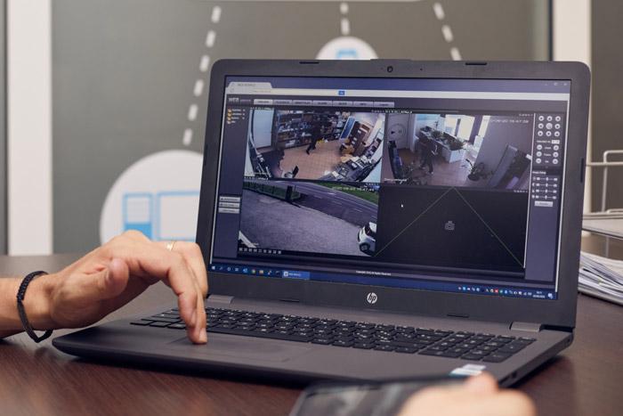 Impianto videosorveglianza IP